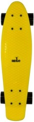 Ridge Skateboards Big Brother Large Retro Cruiser - Yellow/Black Wheels, 27 Inch
